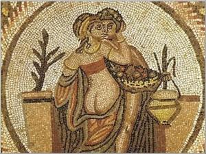 Villa Romana mosaiigi fragment