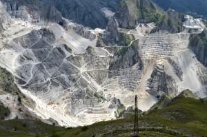 Carrara marmormägedes